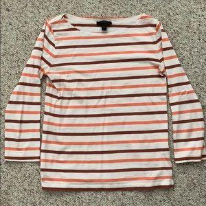 J. Crew striped long sleeve boatneck t-shirt